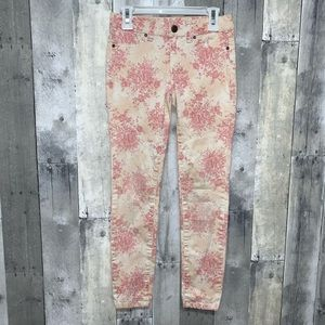 Joe's Jeans Pink Floral Jeans Girls Size 10